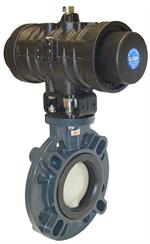 Asahi Series 79P AIr to Spring Pneu Act Butterfly Valve